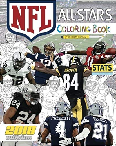 The Ultimate Football Coloring, Stats and Activity Book for Adults and Kids!